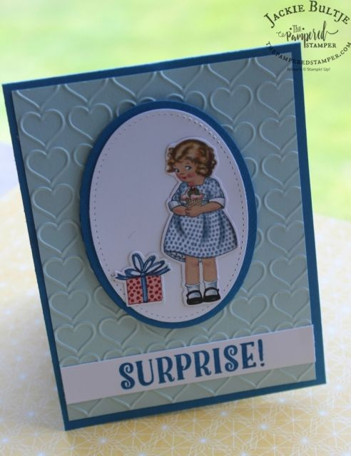 Oh how I love the stitched framelits with this stamp set and of course the framelits that cut out the images from the patterned paper in the BIrthday Memories Suite.