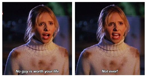 "When she taught Dawn a valuable lesson. | 23 Of Buffy's Most Iconic Lines On ""Buffy The Vampire Slayer"""