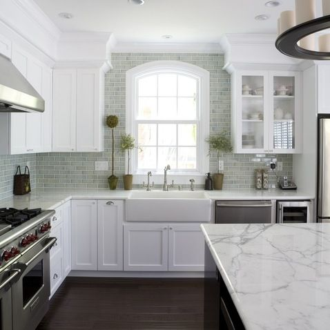 stil like this sofit treatment     fiorella desisn. White Kitchen Designs Photos Design Ideas, Pictures, Remodel, and Decors