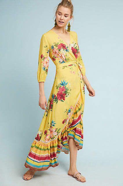 e0c675b8d1f7 Farm Rio for Anthropologie Farm Rio Marketplace Wrap Dress | My ...