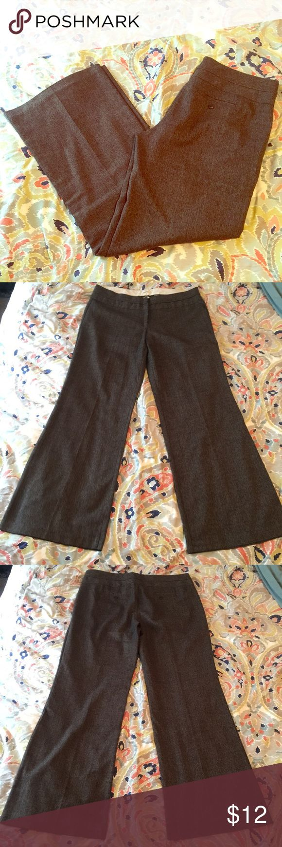 Brown slacks Brown ish slacks. True to size. Worn a handful of times. Still plenty of life left :) Studio Y Pants Boot Cut & Flare