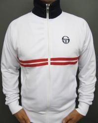 Sergio Tacchini Dallas Track Top in White/Navy/Red