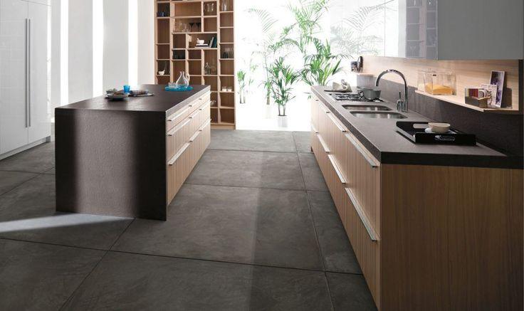 Whichever Floor Finish You Choose In Your German Design Kitchen Ensure That It Is Slip Resistant To Prevent Kitchen Flooring Kitchen Design Grey Kitchen Floor