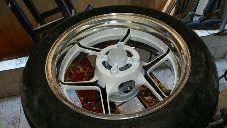 Zx10r wheels paint & chrome