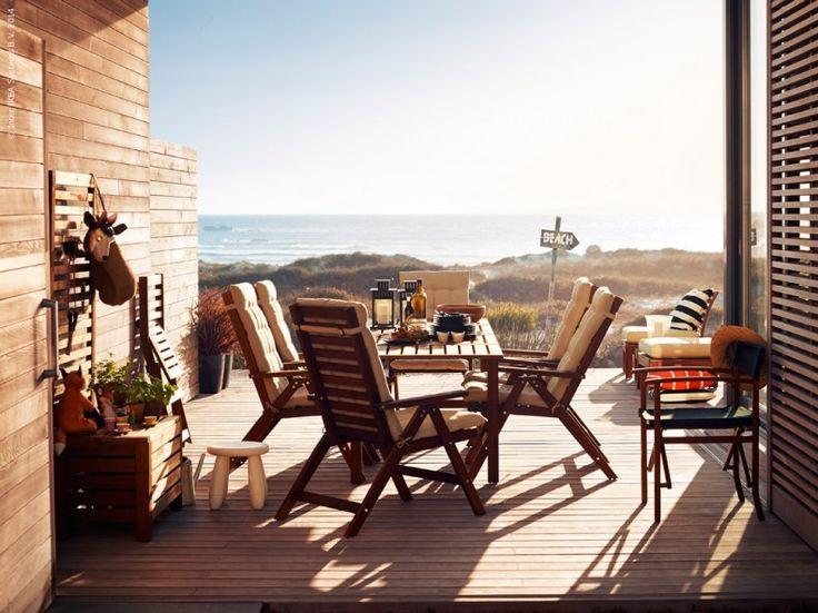 Fantastisk terrass / altan från IKEA