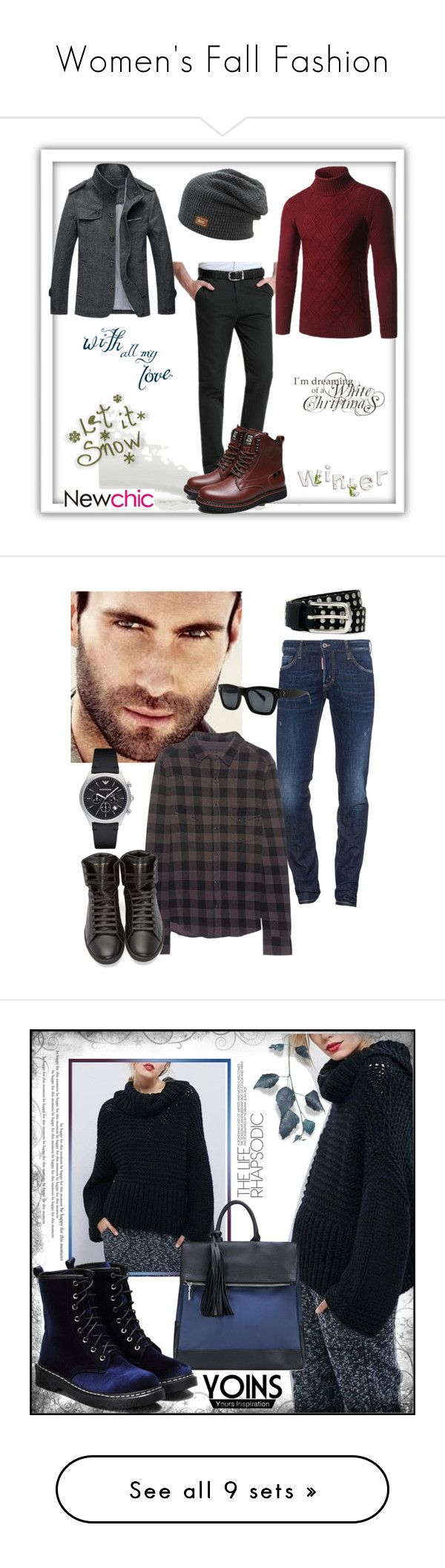 """""""Women's Fall Fashion"""" by belinda54-1 ❤ liked on Polyvore featuring men's fashion, menswear, Adam Levine, Dsquared2, True Religion, Emporio Armani, Yves Saint Laurent, River Island, yoins and loveyoins"""