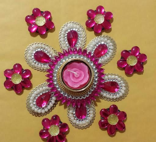 Hey, I found this really awesome Etsy listing at https://www.etsy.com/listing/178537083/rangoli-wedding-centerpiece-in-pink-and