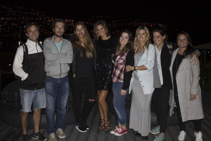 Cláudia Vieira e sua equipa no Hotel The Vine