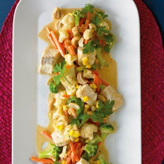 ESSEN & TRINKEN - Fischcurry mit Gemüse Rezept