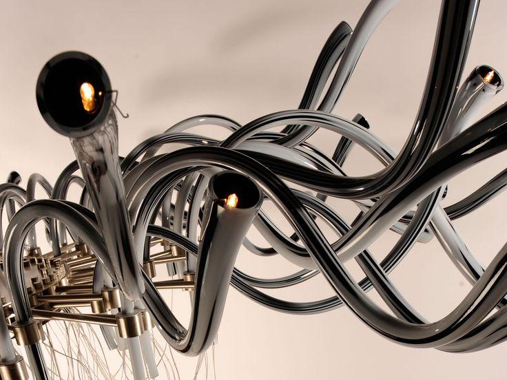 #Flut Collection #murano #glass #chandelier #design #handmade
