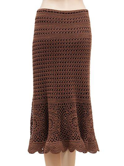 Crochet Clothing Downloads - Chocolate Drop Skirt
