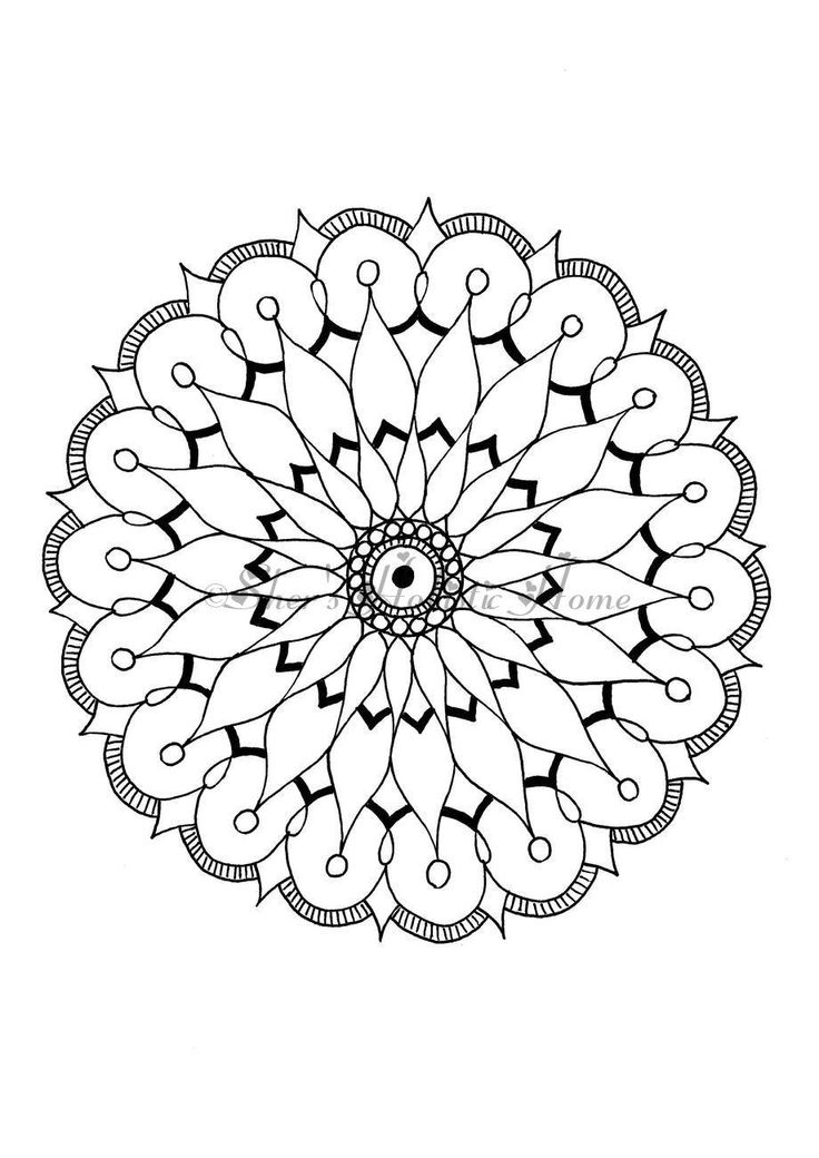 Simple beginners mandala for colouring. Many more available in my Etsy store.