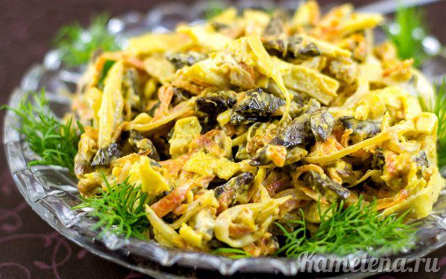 Салат с говяжьей печенью — 14 шаг