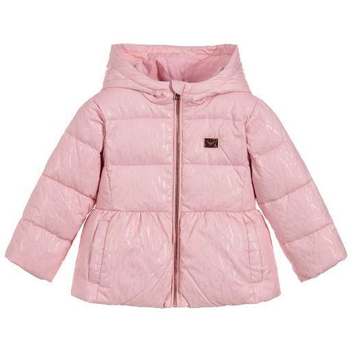 Emporio Armani-Girls Pink Down Padded Jacket  eedcc93341675