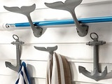 These nautical hooks will look great in any beach environment. Check it: Eight-Arms Hook - eclectic - hooks and hangers - - by Anthropologie