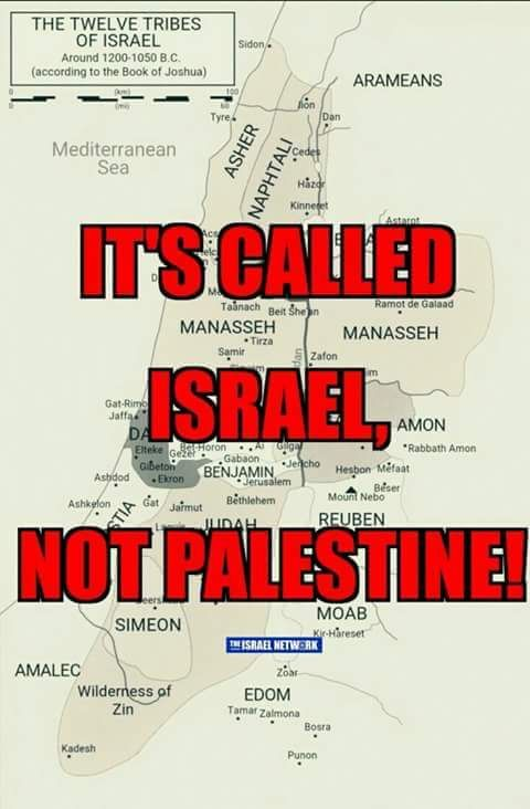Except it is Palestine, no matter what its called now.