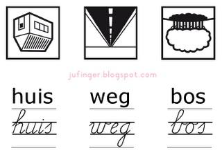Juf Inger: woordkaartjes