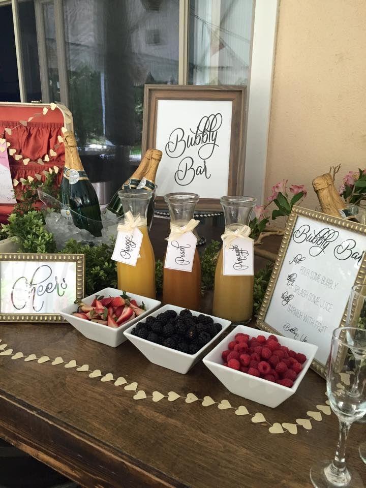 Bridal Shower Ideas Bridal Shower Champagne Bubbly Bar Wedding Bridal Shower Champagne Bar