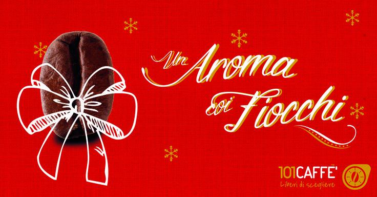 """A Natale regala un aroma coi fiocchi... anzi, coi chicchi! Da 101CAFFE' trovi tante idee per rendere tutti ancora più """"buoni"""". I nostri caffè in Grani faranno magie, sprigionando tutto l'aroma dei chicchi! Li trovi nei punti vendita 101CAFFE' e sul sito www.101caffe.it"""