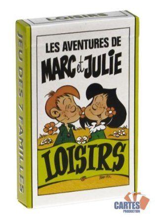 Jeu de 42 cartes : 7 familles Marc et Julie : Loisirs: Amazon.fr: Jeux et Jouets