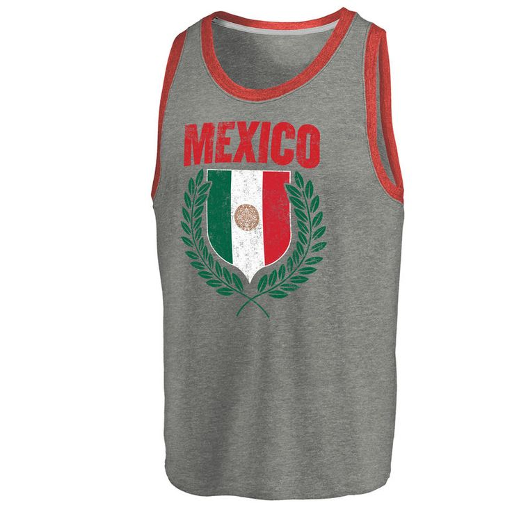 Mexico Soccer Fanatics Branded Spirit Tank Top - Ash/Red