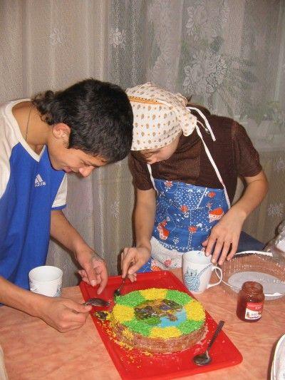 Как сделать торт в форме тигра