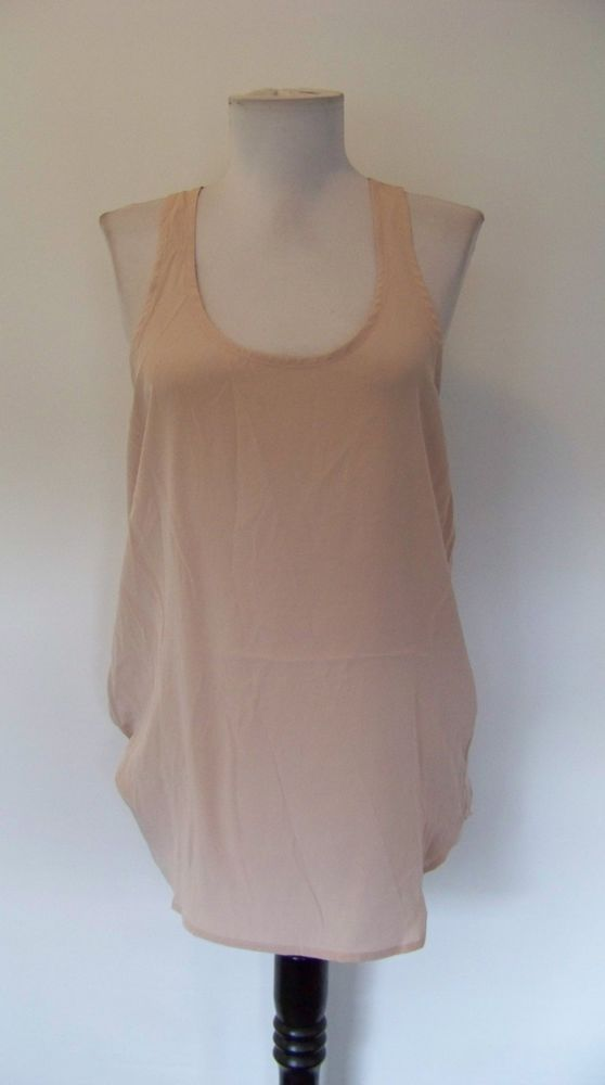 71f432b5cb1e5 4900 NWT ACROBAT PALE PINK 100% SILK RACER-BACK TANK TOP! S  fashion   clothing  shoes  accessories  womensclothing  tops (ebay link)