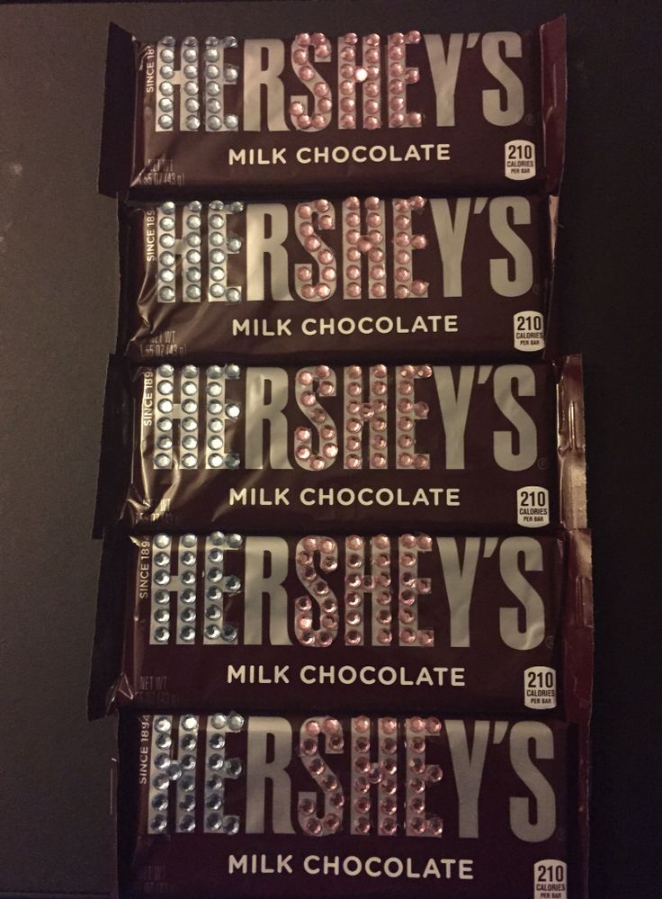 DIY Gender Reveal Party Favors Used rhinestone stickers from Michaels to highlight the He and She on the Hershey's Milk Chocolate Bar
