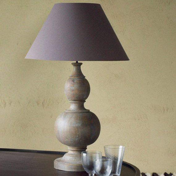 Montgolfier Hand-Carved Wood Lamp - Wood