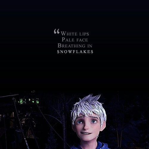 This actually makes me sad, considering what the song is about. Jack is beautiful, in every sense of the word. (Jack Frost; RotG)