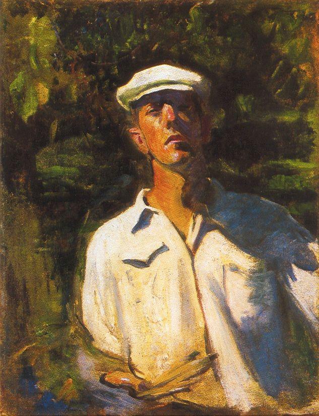 Ferenczy Károly : Önarckép napsütésben