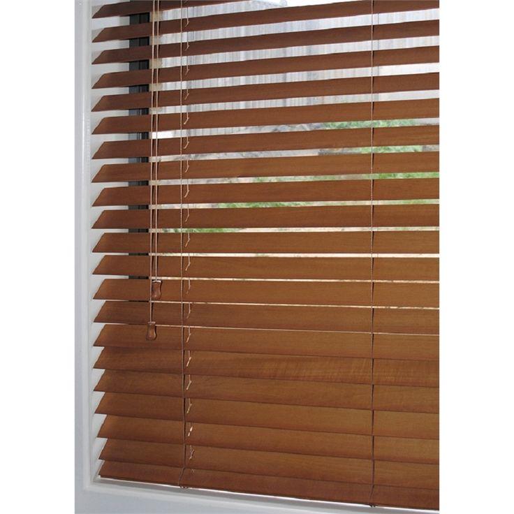 Windoware Basswood Venetian Blind 50x1350x1370mm Teak