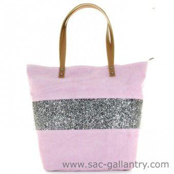 Sac en daim rose - sac à main en cuir italien & fabriqué en italie. Vendu sur la boutique Sac Gallantry Paris