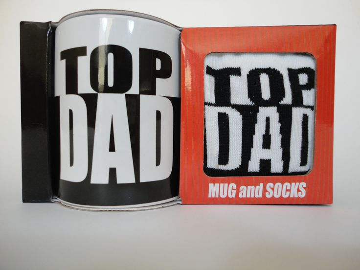 Top Dad Mug and Socks Set - How stylish will Dad be this Father's Day, enjoying his morning cuppa with his Top Dad mug and matching socks?