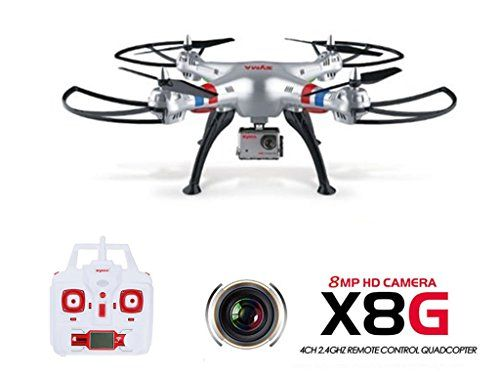 GoolRC Syma X8G Drone con Camara HD 2.4G 6 Axis Gyro 4-CH RC Quadcoptr con Funciones de Modo Sin Cabeza - http://www.midronepro.com/producto/goolrc-syma-x8g-drone-con-camara-hd-2-4g-6-axis-gyro-4-ch-rc-quadcoptr-con-funciones-de-modo-sin-cabeza/