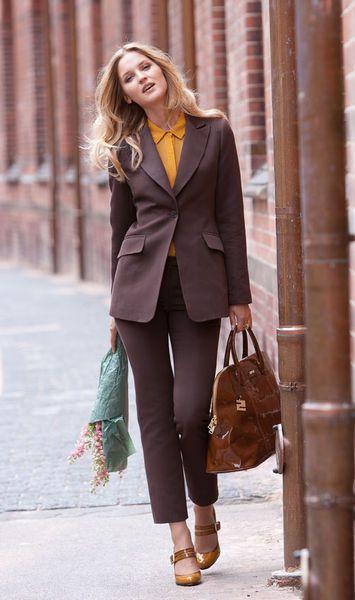 Брюки - выкройка № 107 C из журнала 11/2012 Burda – выкройки брюк на Burdastyle.ru