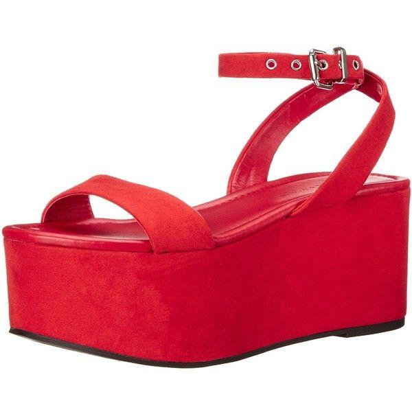 KENDALL + KYLIE Women's kkDEMI Flatform Sandal (€54) ❤ liked on Polyvore featuring shoes, sandals, flatform shoes, flatform sandals and kendall kylie shoes