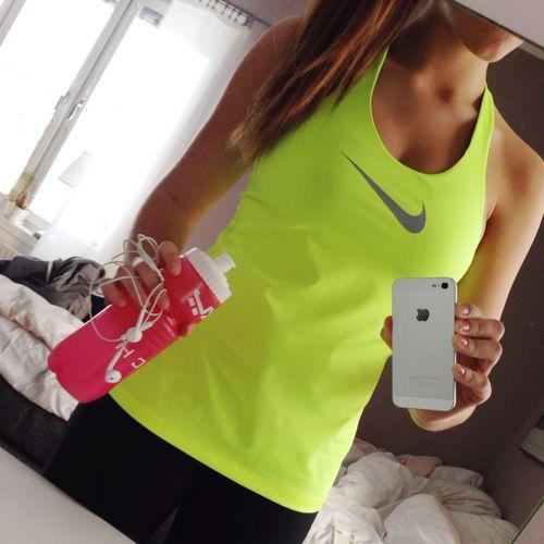 I love the bright tank top