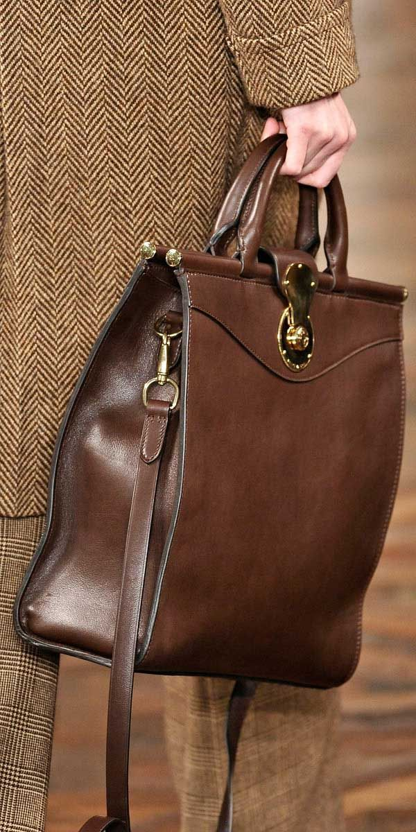 Ralph Lauren...I WANT A BAG THIS SHAPE!!!!