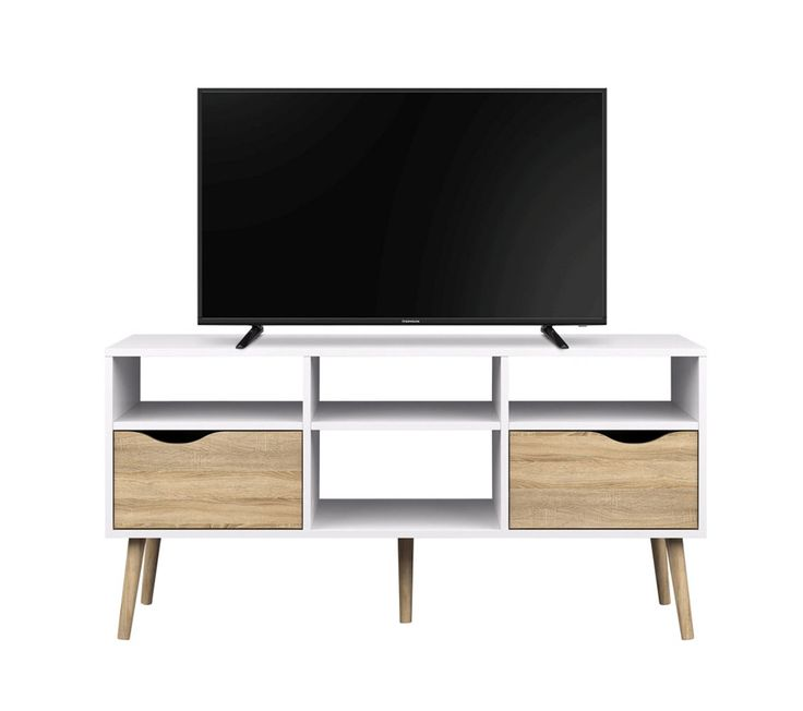 Les 25 meilleures id es de la cat gorie meuble tv blanc sur pinterest meubl - Meuble tv ovale blanc ...