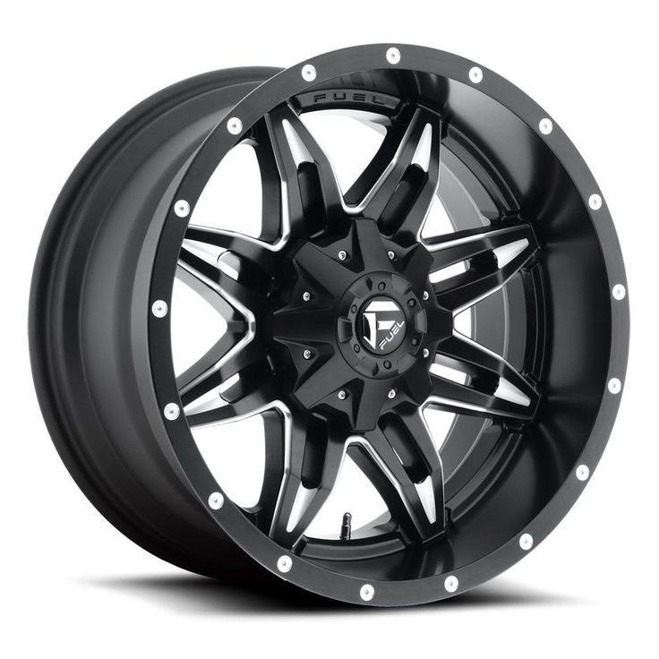 """17"""" Fuel Lethal D567 Matte Black Milled Wheel 17x9 6 Lug"""