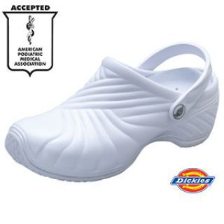 ZIGZAG Injected Clog w/ backstrap by Dickies Medical Footwear white