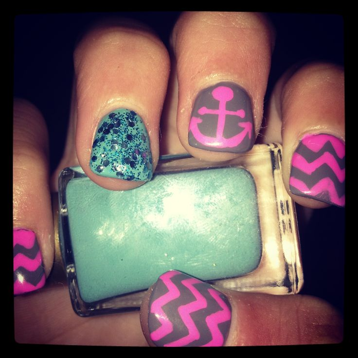 27 best nails images on pinterest nail art ideas accent nails anchor prinsesfo Images