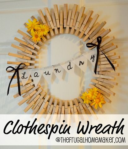 Clothespin wreath - I made something I pinned :)