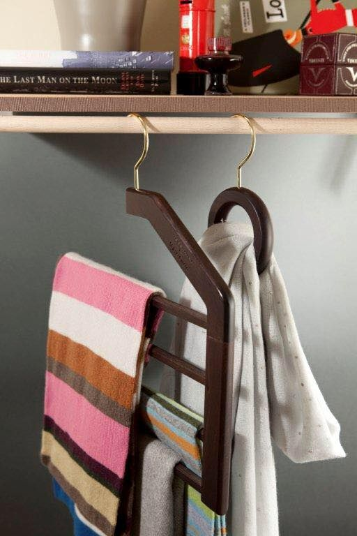 How do I hang... scarves? Toscanini accessories can hang (almost) anything.