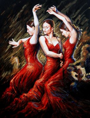 Flamenco Flare Painting at ArtistRising.com