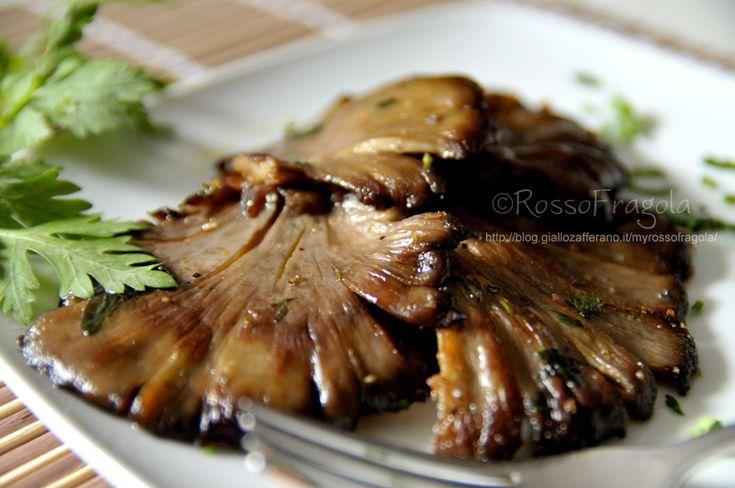 Funghi marinati arrostiti alla piastra,funghi arrostiti