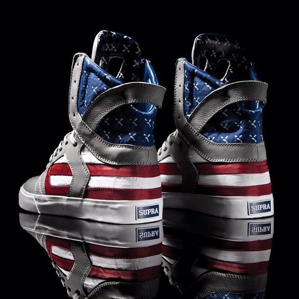 """SUPRA would like to wish everyone a happy 4th of July #tbt with the highly collected Skytop II from the 2011 """"Flag Pack"""" . If anyone managed to get these we'd love to see them today, please tag them #mysupras. #Padgram"""