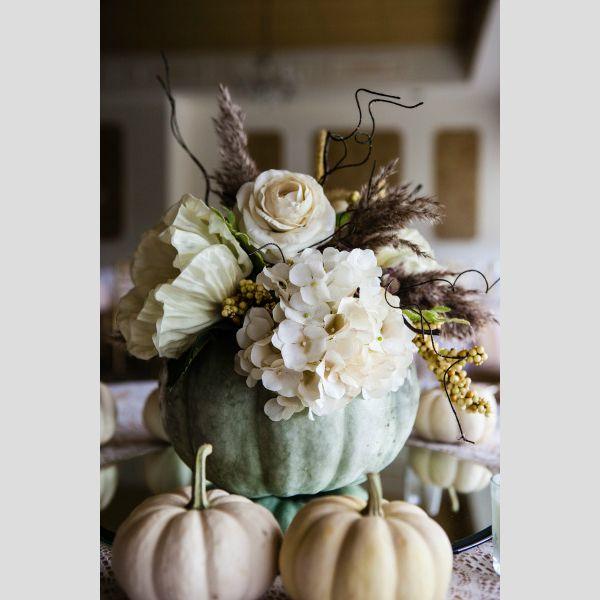 Ideias para a decoraração de um casamento de outono. #casamento #decoração #mesas #outono #flores #abóboras