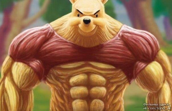 Winnie the muscle bear